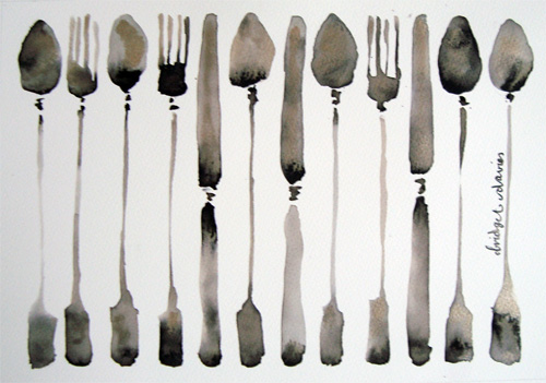 Favourite Cutlery by Bridget Davies