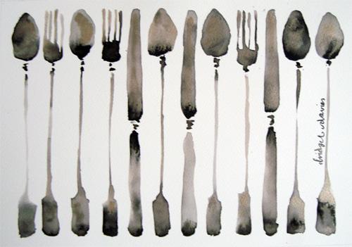 Favourite Cutlery by Bridget Davies