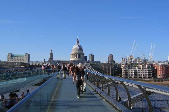 London Millennium Footbridge by Judy Darley