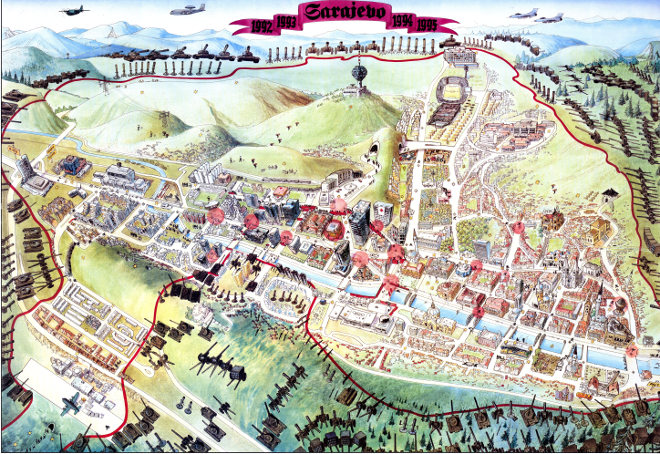 Sarajevo-Escape-map-1996-copyright-Miran-Norderland