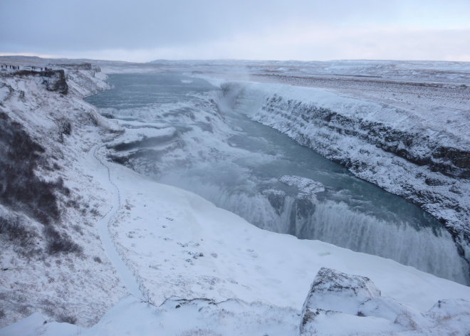 Gullfoss Falls Iceland photo by Judy Darley