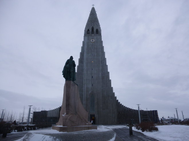 Hallgrímskirkja church, Reykjavik photo by Judy Darley
