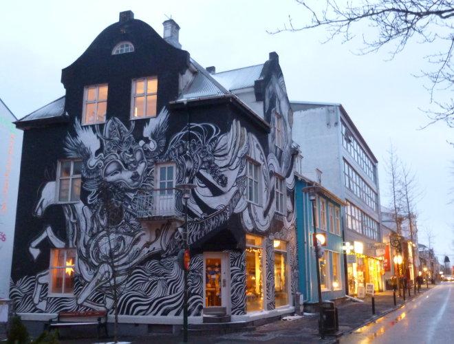 Reykjavik street art Caratoes and Ylja photo by Judy Darley