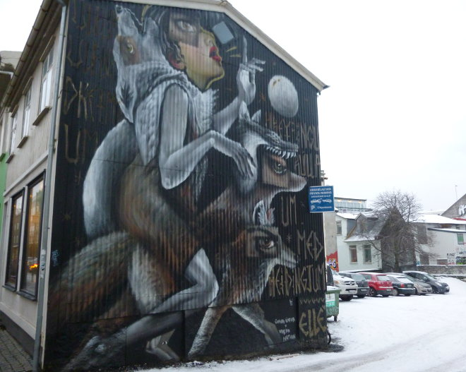 Reykjavik street art_Elle with Ulfur Ulfur, photo by Judy Darley