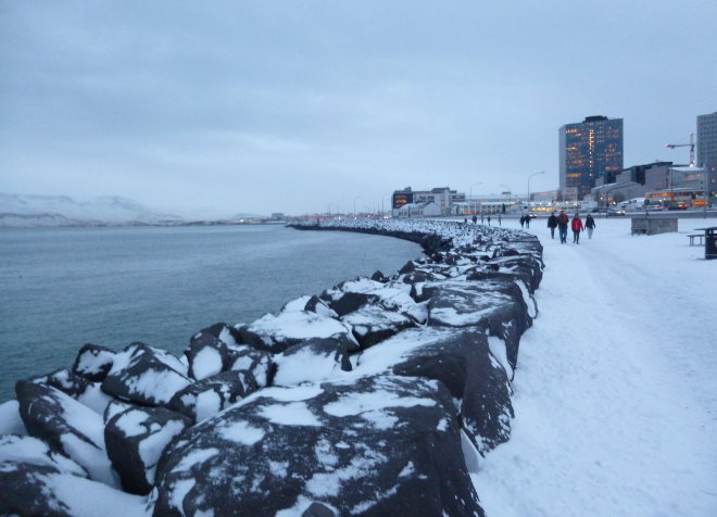 Reykjavik waterfront photo by Judy Darley