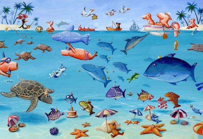 A scene from Was Schwimmt Denn Da by Henning Lohlein