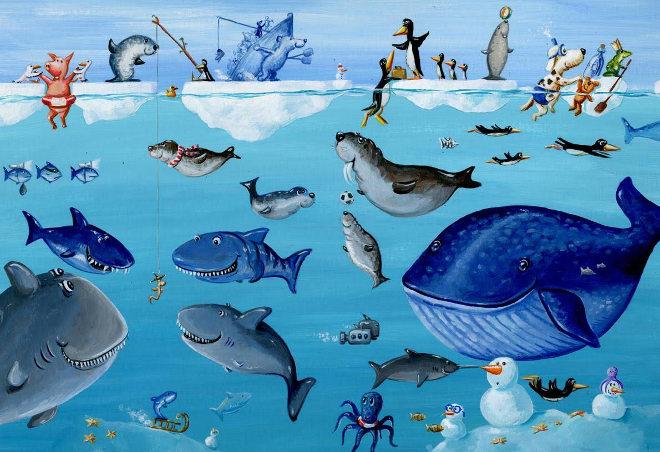 A scene from Was Schwimmt Denn Da by Henning Lohlein1