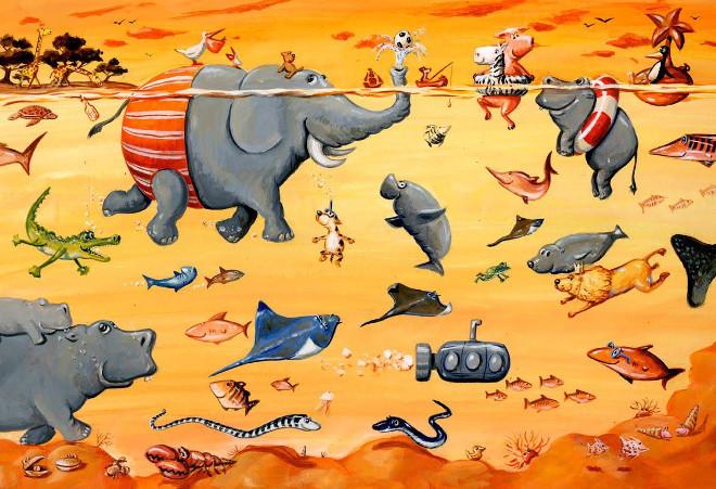 A scene from Was Schwimmt Denn Da by Henning Lohlein2