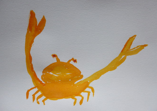 Evil crab by Judy Darley