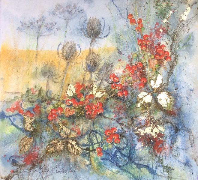 Golden Teasels by Jane Betteridge