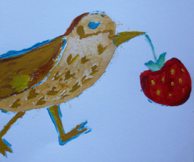 Strawberry Thief by Judy Darley