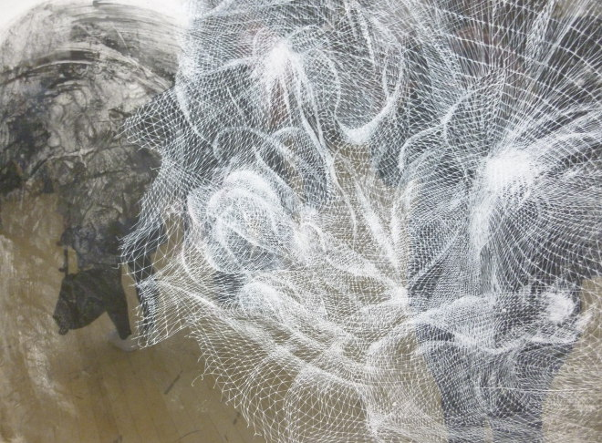 Ghost Nets of Hallsands (iii) by Frances Gynn, ink, crayon and charcoal_£2000
