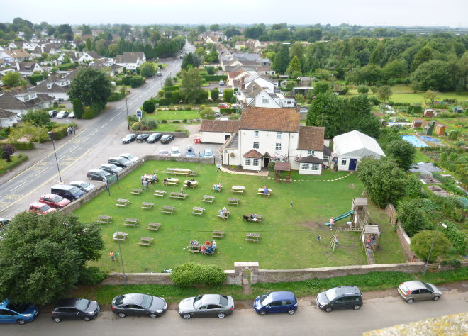 View from church tower by Judy Darley
