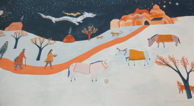 Winter Mural by Florence Jackson