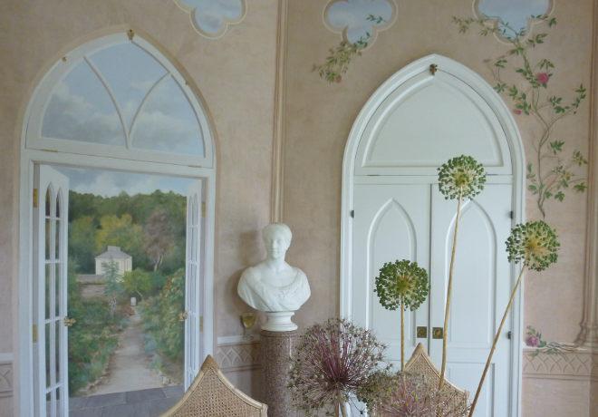 Colby Walled Garden gazebo by Judy Darley