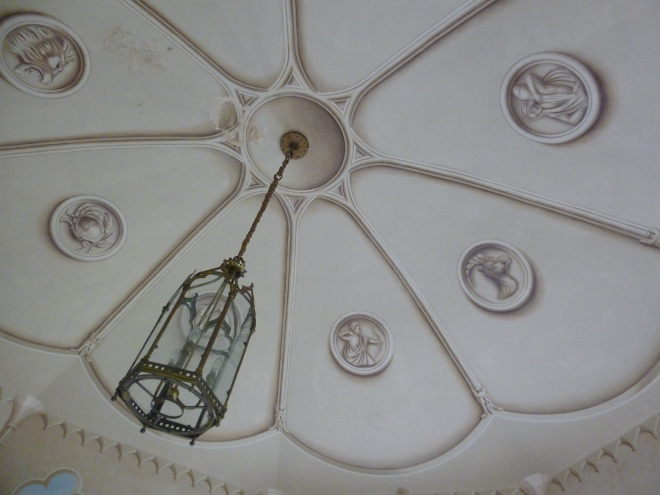 Colby Walled Garden gazebo ceiling by Judy Darley
