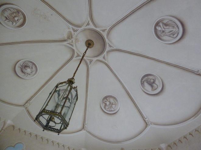 Colby Walled Garden gazebo ceiling by Judy Darley