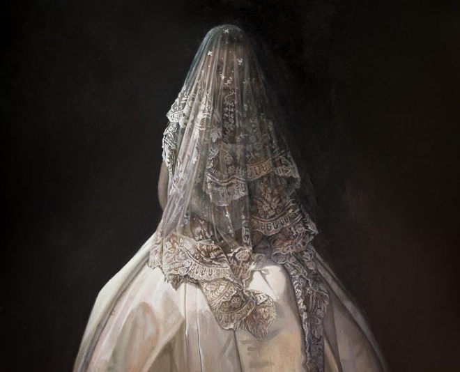 Giselle, detail, oil on linen, by Sophie Ploeg
