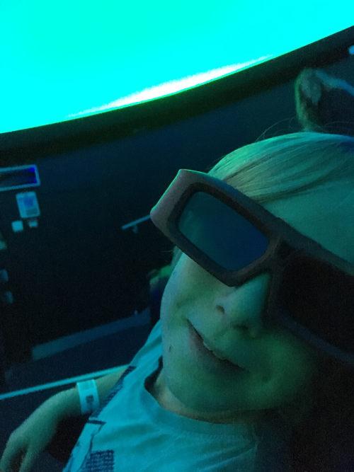 Nephew in Planetarium by Judy Darley