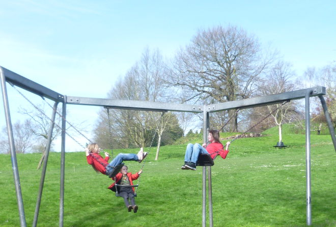Swinging by Judy Darley