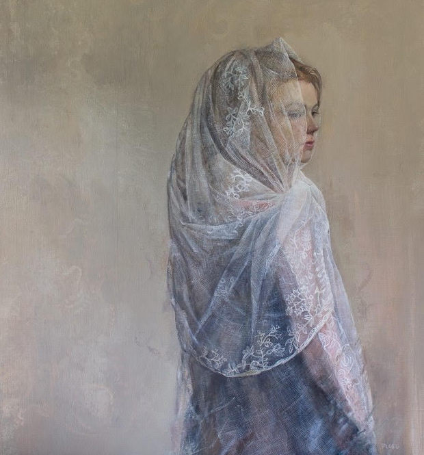 White Dove, oil on linen, by Sophie Ploeg
