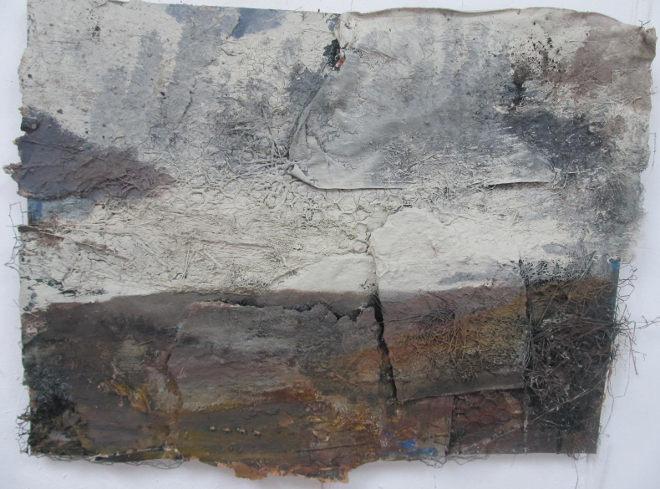 Moor, White Sky, Sheep by Andrew Hardwick