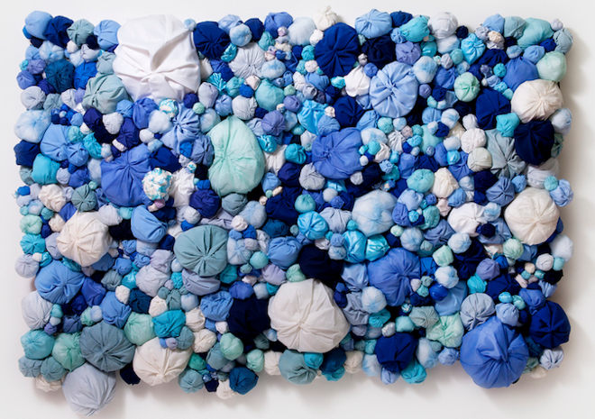 Sculptures in blue by Natsuko Hattori