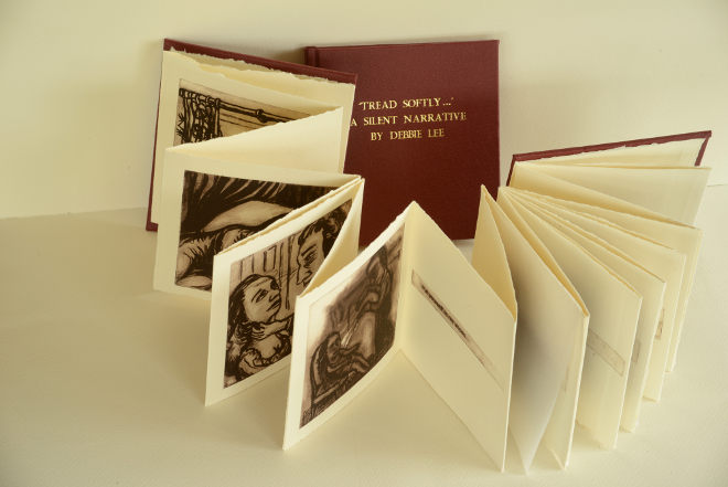 Tread Softly artist's book by Debbie Lee