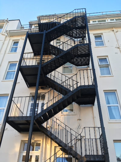 Bournemouth fire escape by Judy Darley