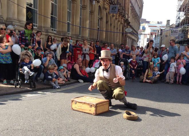 Street performer by Judy Darley