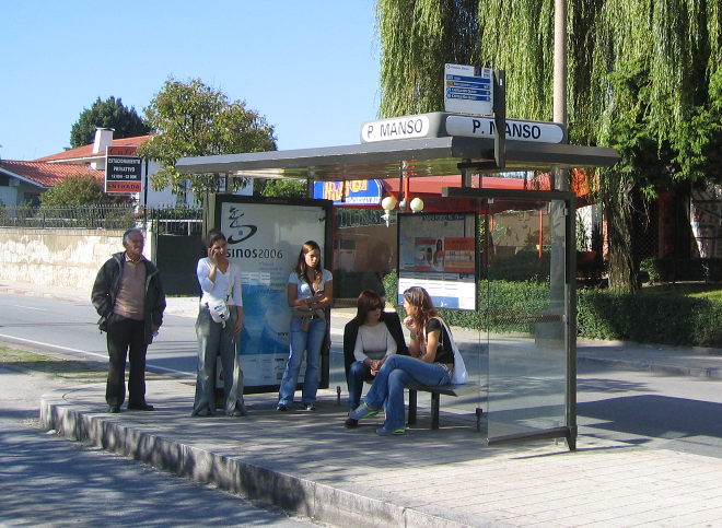 Bus stop by Judy Darley
