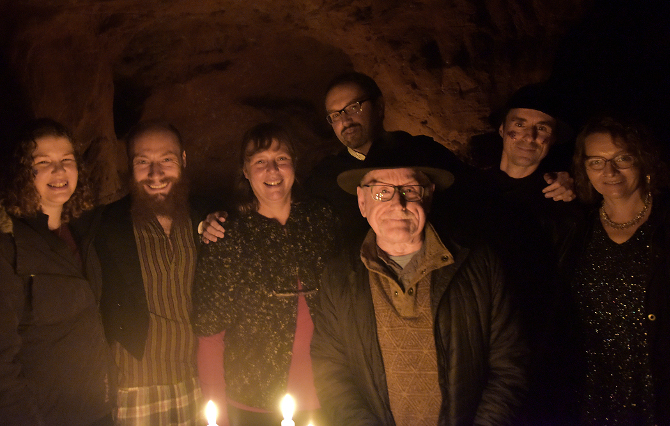 Bristol Writers Group in Redcliffe Caves1. Photo by Paul Bullivant