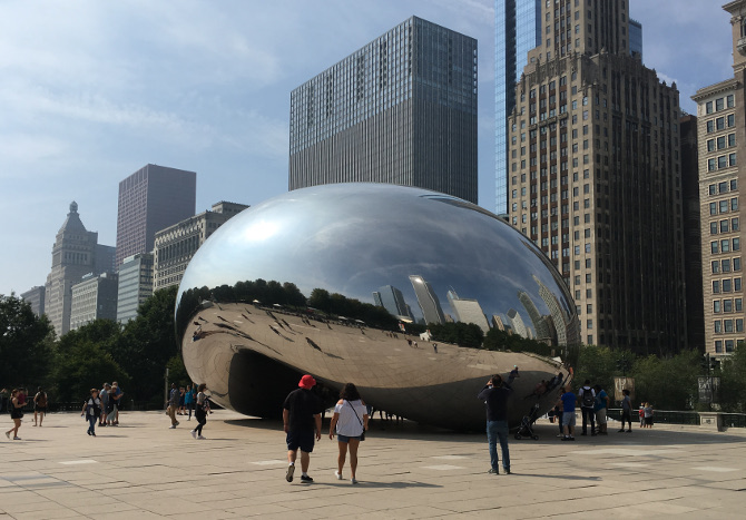 Cloud Gate by Anish Kapoor, Chicago_Photo by Judy Darley