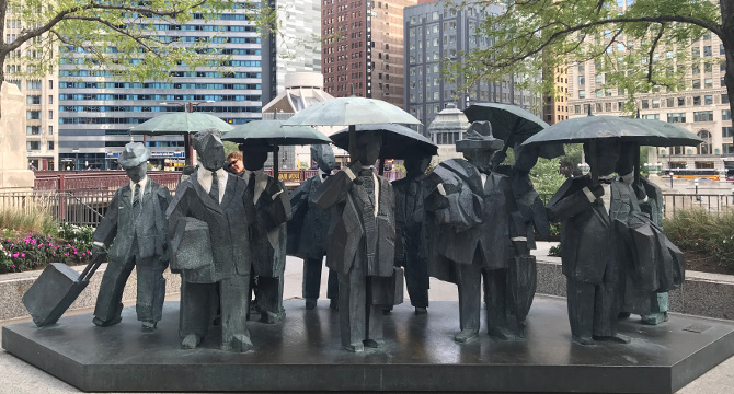 Gentlemen by Taiwanese sculptor Ju Ming. Photo by James Hainsworth
