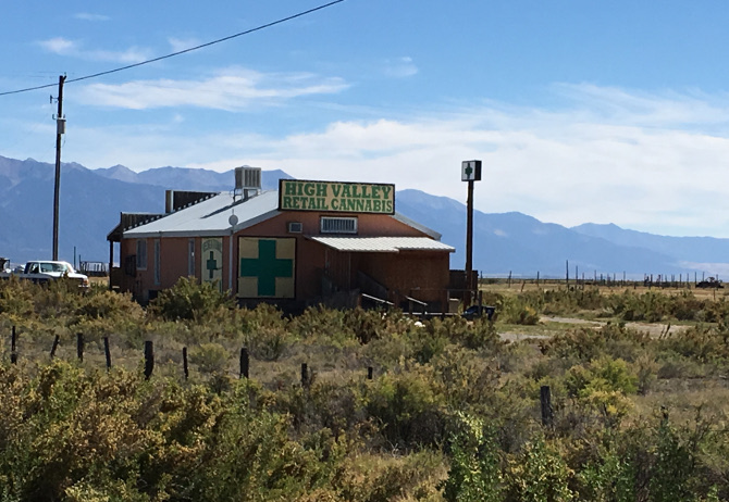 High Valley Retail Cannabis, Colorado. Photo by Judy Darley