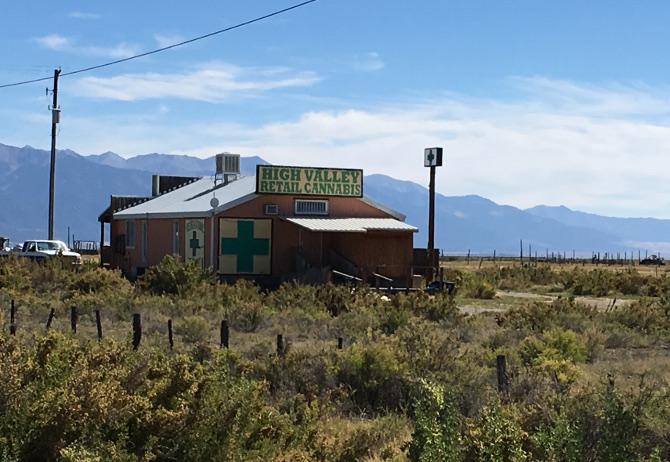 High Valley Retail Cannabis, Colorado. Photo by Judy Darley