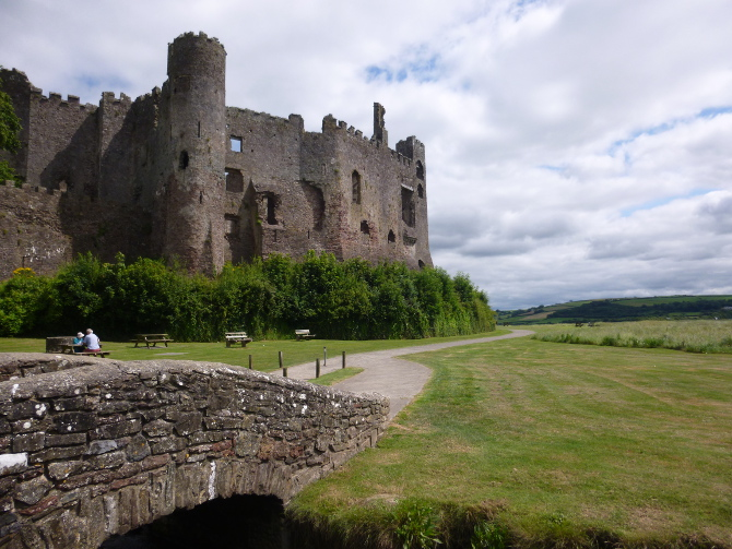 Laugharne Castle by Judy Darley