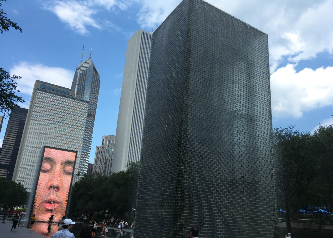 The Crown Fountain by Jaume Plensa. Photo by Judy Darley