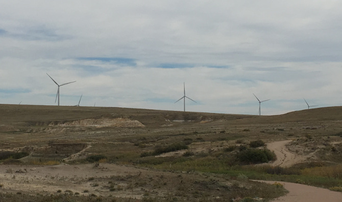 Wind turbines, Colorado. Photo by Judy Darley