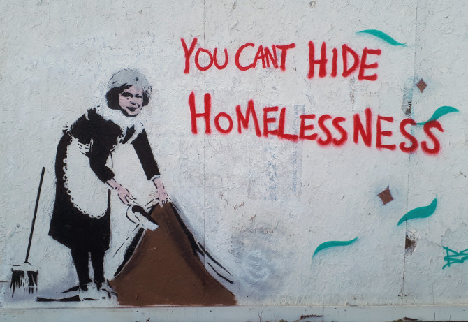 You can't hide homelessness by John D'oh