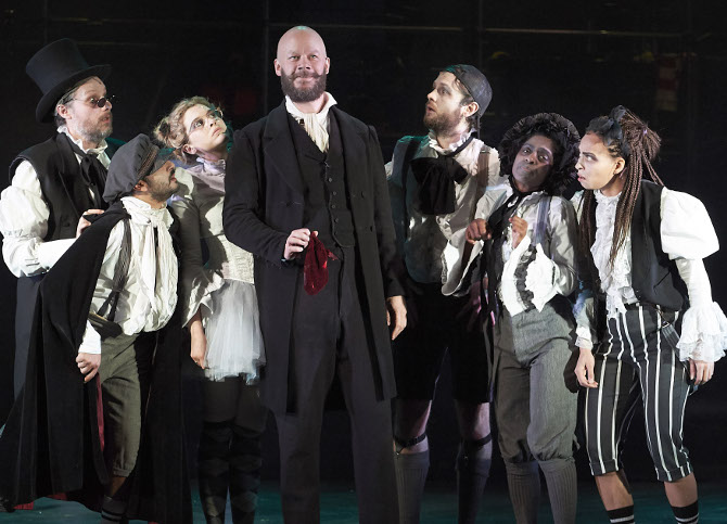 Full Company in A Christmas Carol at Bristol Old Vic, credit Geraint Lewis