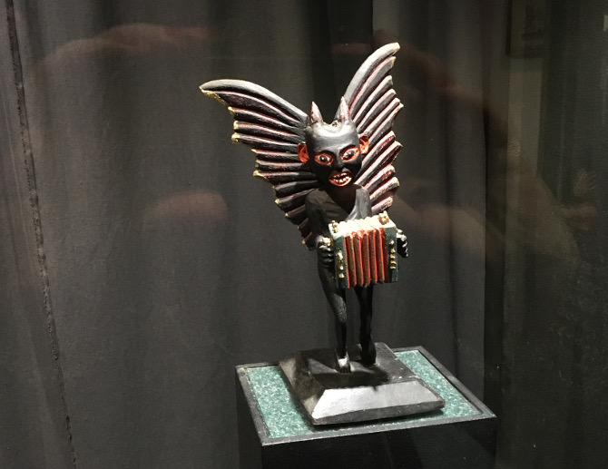 Devil and accordian. Devils Museum, Kaunas Lithuania. pic by Judy Darley