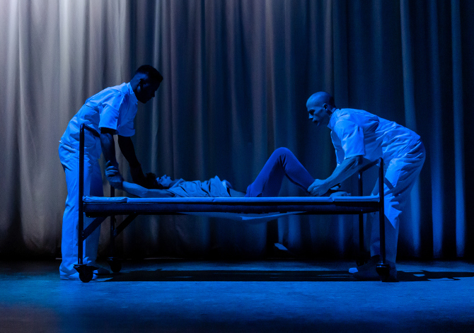 EQUUS. Ira Mandela Siobhan, Ethan Kai (Alan Strang) and Keith Gilmore. Image The Other Richard