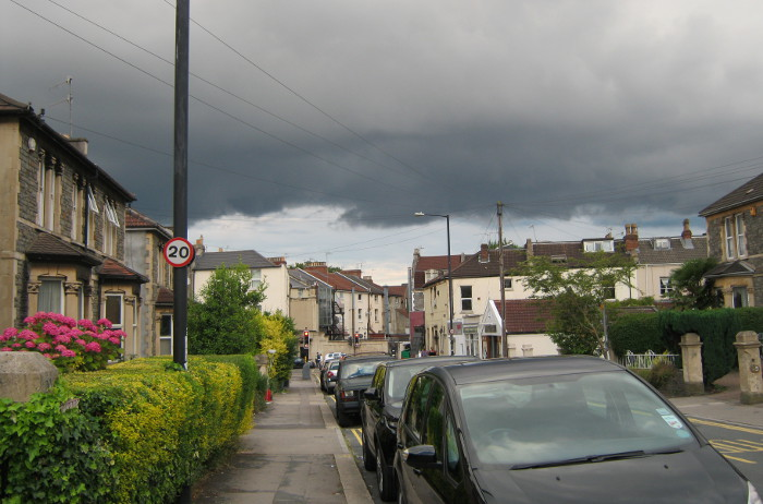 Storm cloud over Bristol by Judy Darley