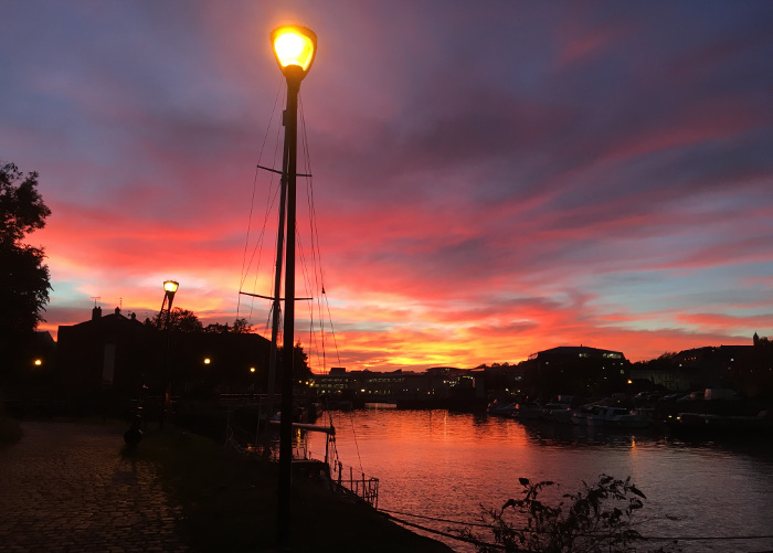 Bristol Docks sunset by Judy Darley
