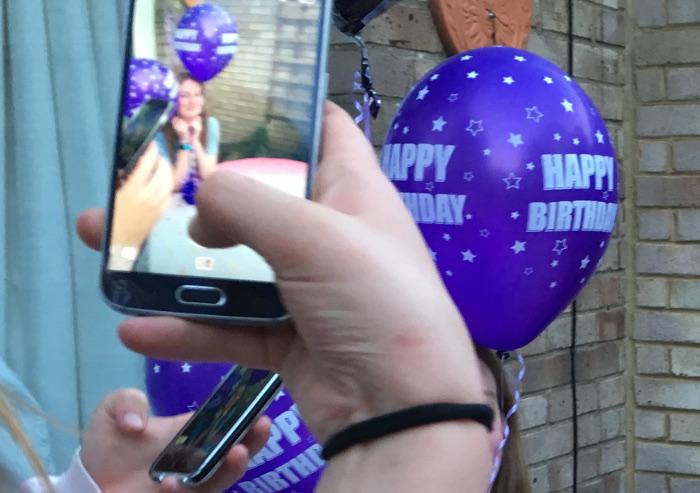 Teen birthday_phone screen by Judy Darley