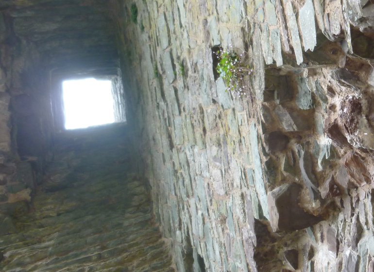 Laugharne Castle tower interior by Judy Darley