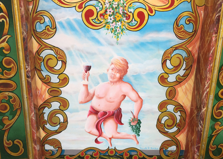 Donald Trump cherub by Judy Darley