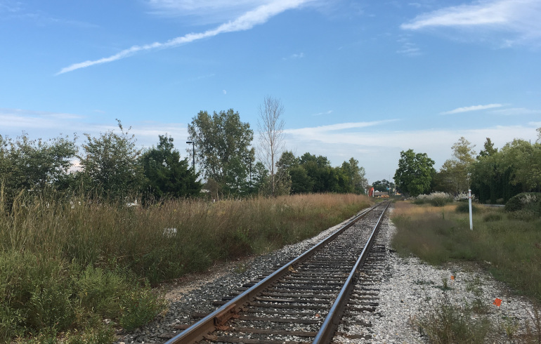 Kalamazoo railway tracks by Judy Darley