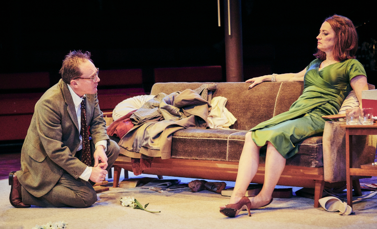 Mark Meadows and Pooky Quesnel as Geroge and Martha in Whos Afraid of Virginia Woolf at Tobacco Factory Theatres, Bristol. Photo Mark Dawson1